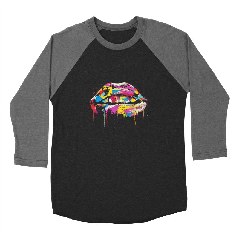 Colorful lips Women's Longsleeve T-Shirt by Balazs Solti