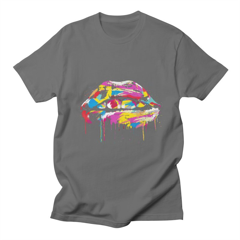 Colorful lips Men's T-Shirt by Balazs Solti