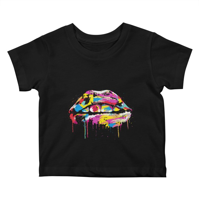 Colorful lips Kids Baby T-Shirt by Balazs Solti