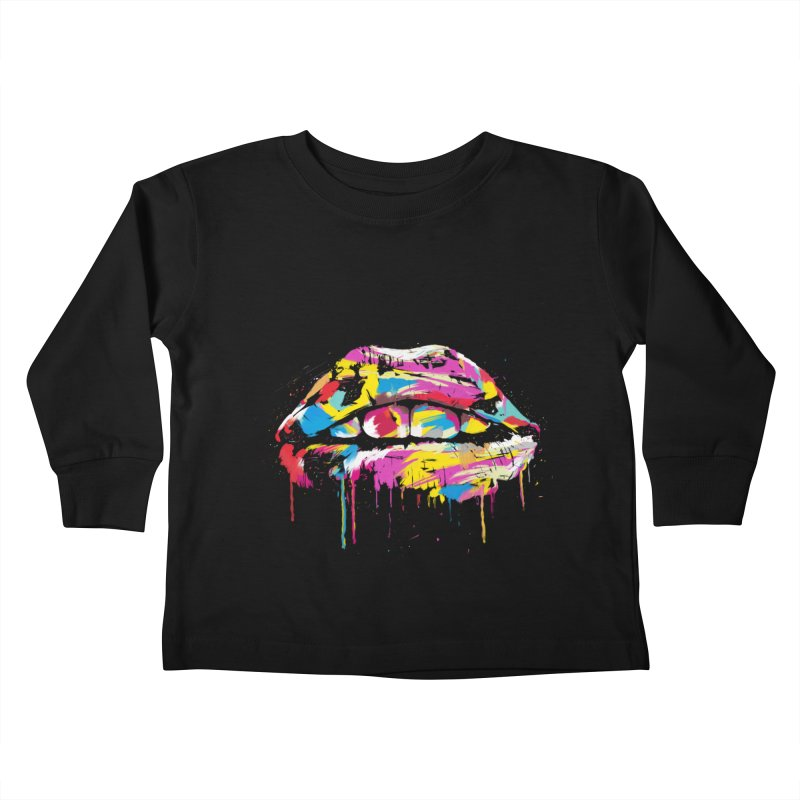 Colorful lips Kids Toddler Longsleeve T-Shirt by Balazs Solti