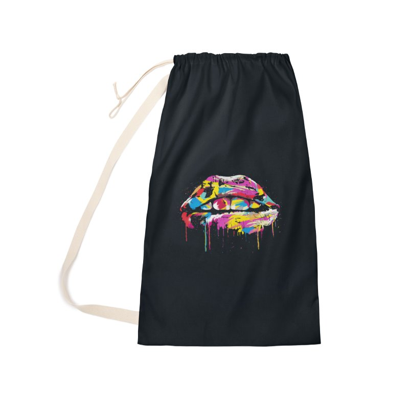 Colorful lips Accessories Laundry Bag Bag by Balazs Solti