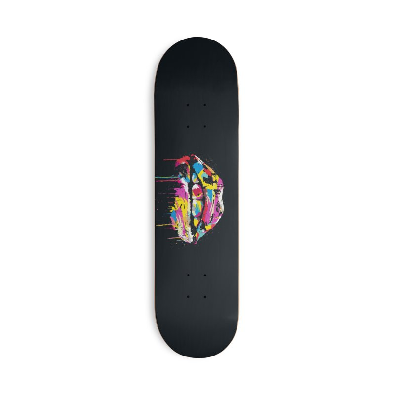Colorful lips Accessories Deck Only Skateboard by Balazs Solti