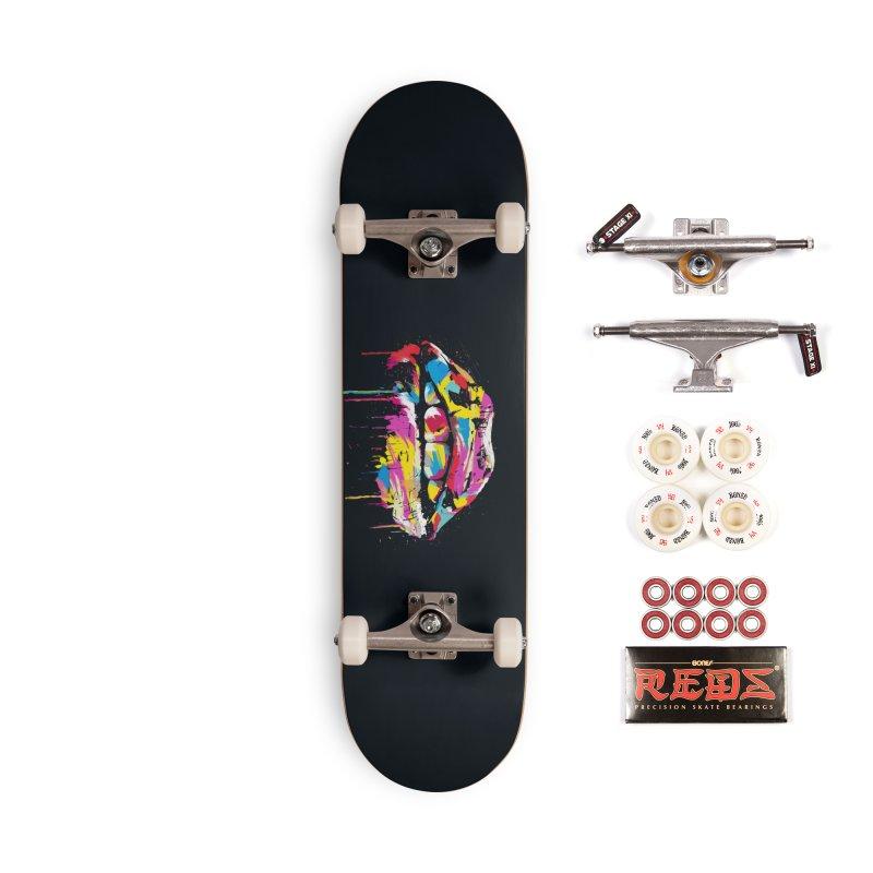 Colorful lips Accessories Complete - Pro Skateboard by Balazs Solti
