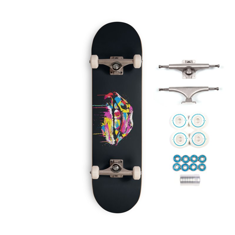 Colorful lips Accessories Complete - Basic Skateboard by Balazs Solti