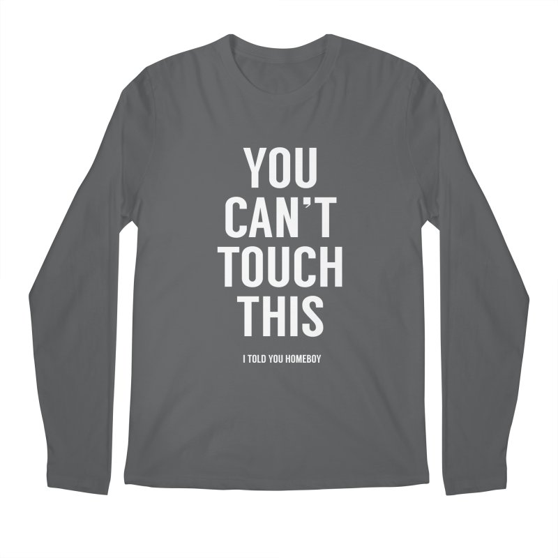 You can't touch this Men's Regular Longsleeve T-Shirt by Balazs Solti