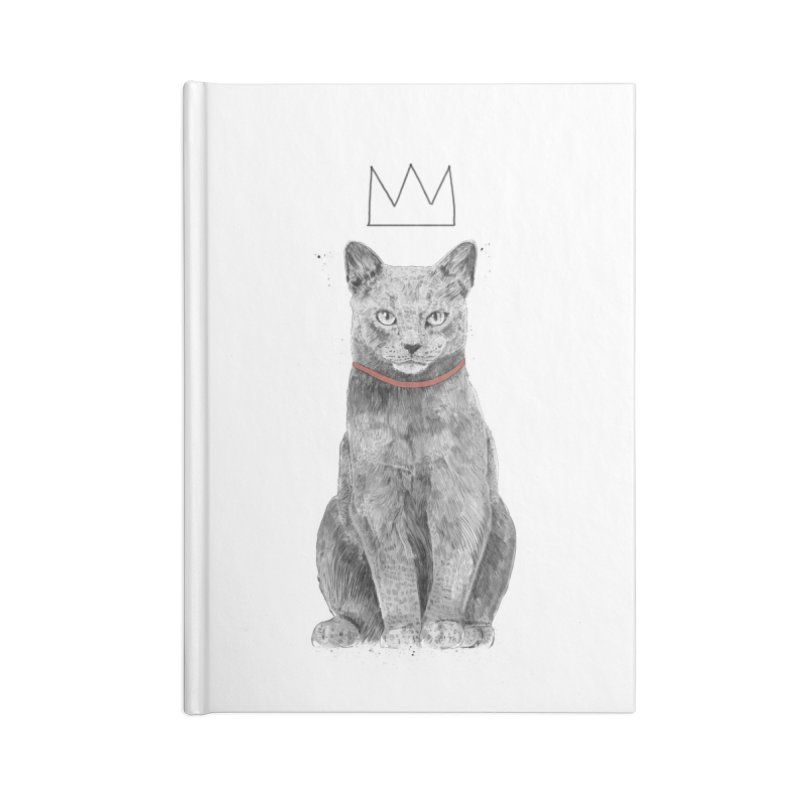 King of everything Accessories Blank Journal Notebook by Balazs Solti