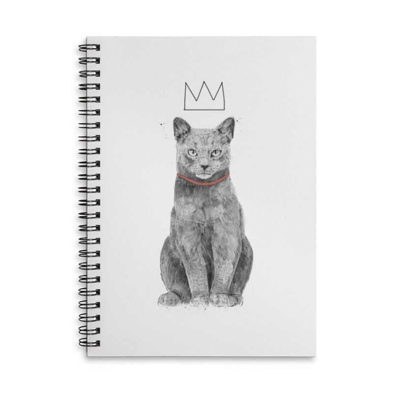 King of everything Accessories Lined Spiral Notebook by Balazs Solti