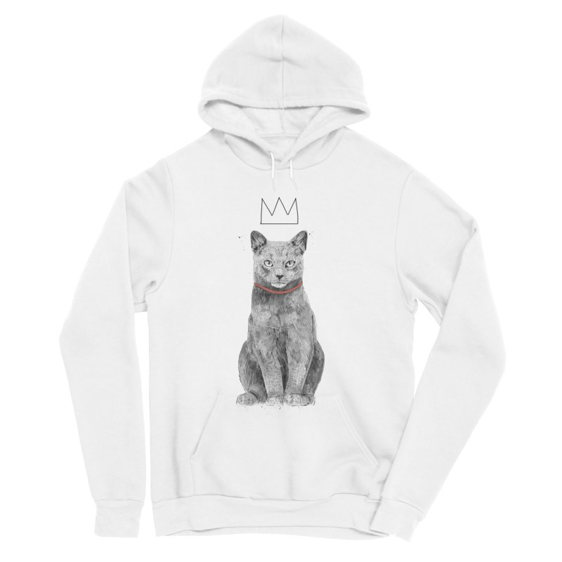 King of everything Women's Sponge Fleece Pullover Hoody by Balazs Solti
