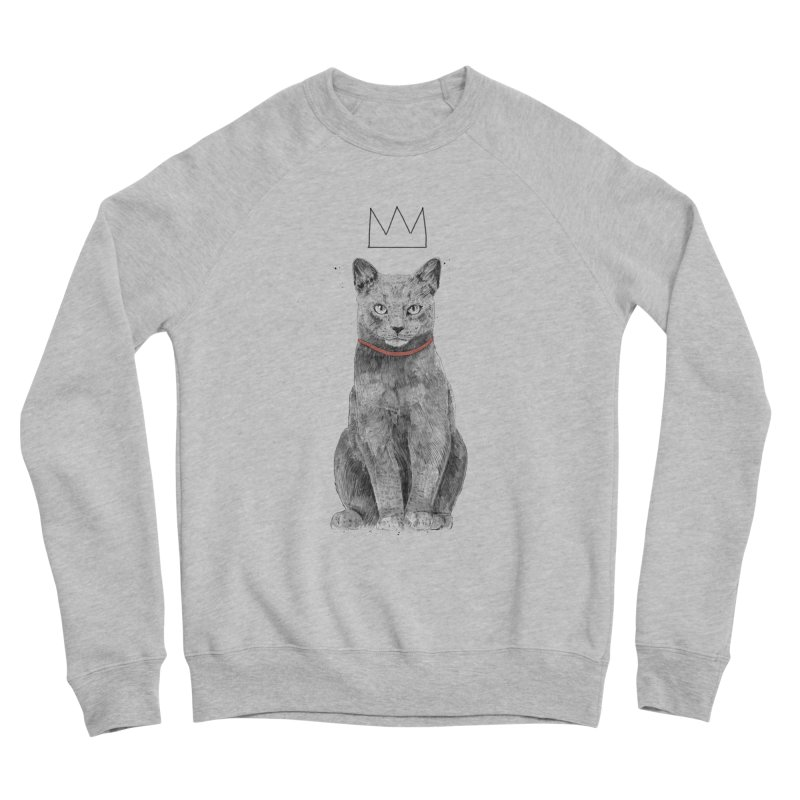 King of everything Women's Sponge Fleece Sweatshirt by Balazs Solti