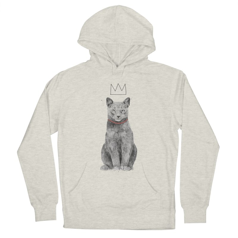King of everything Men's French Terry Pullover Hoody by Balazs Solti