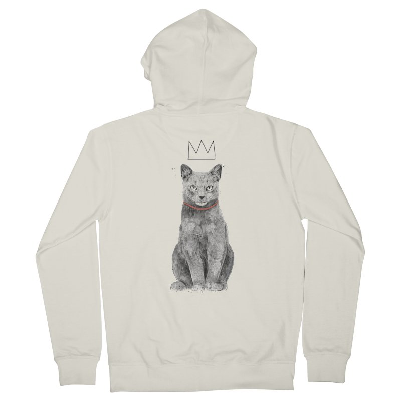King of everything Men's French Terry Zip-Up Hoody by Balazs Solti