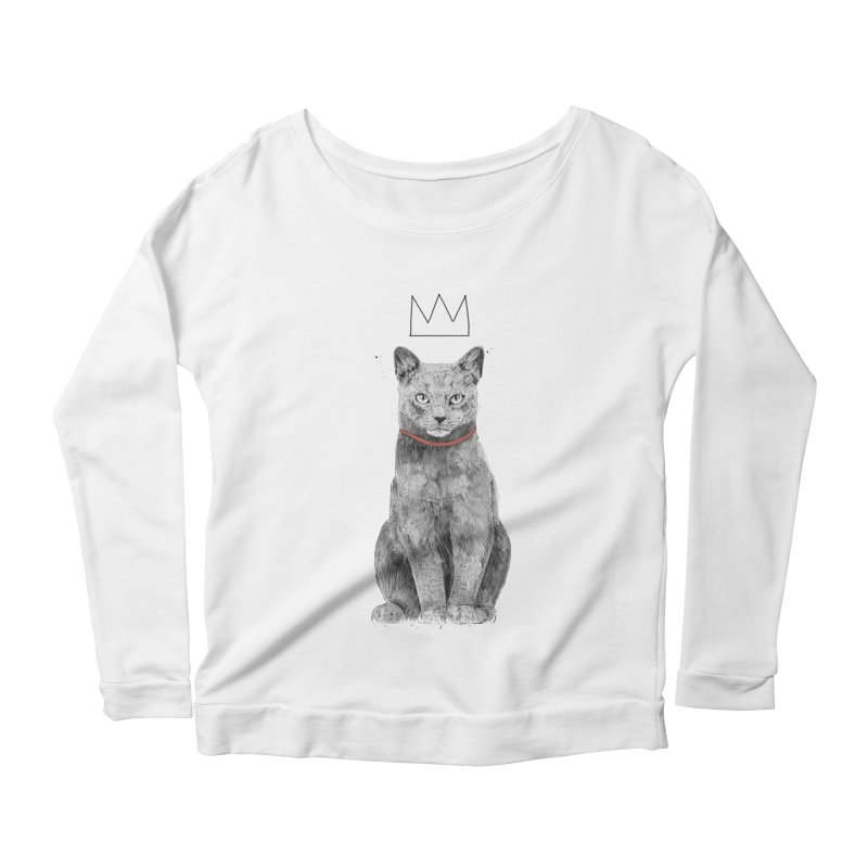 King of everything Women's Scoop Neck Longsleeve T-Shirt by Balazs Solti