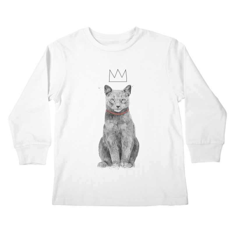 King of everything Kids Longsleeve T-Shirt by Balazs Solti