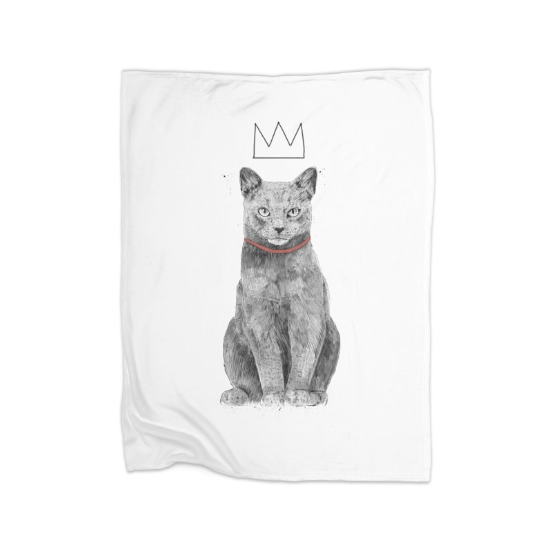 King of everything Home Fleece Blanket Blanket by Balazs Solti