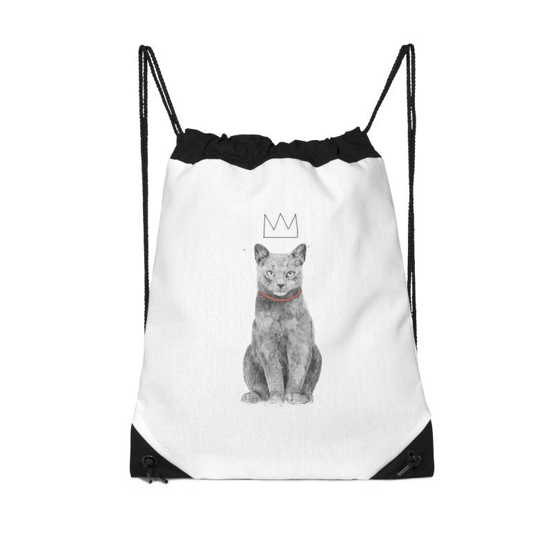 King of everything Accessories Drawstring Bag Bag by Balazs Solti