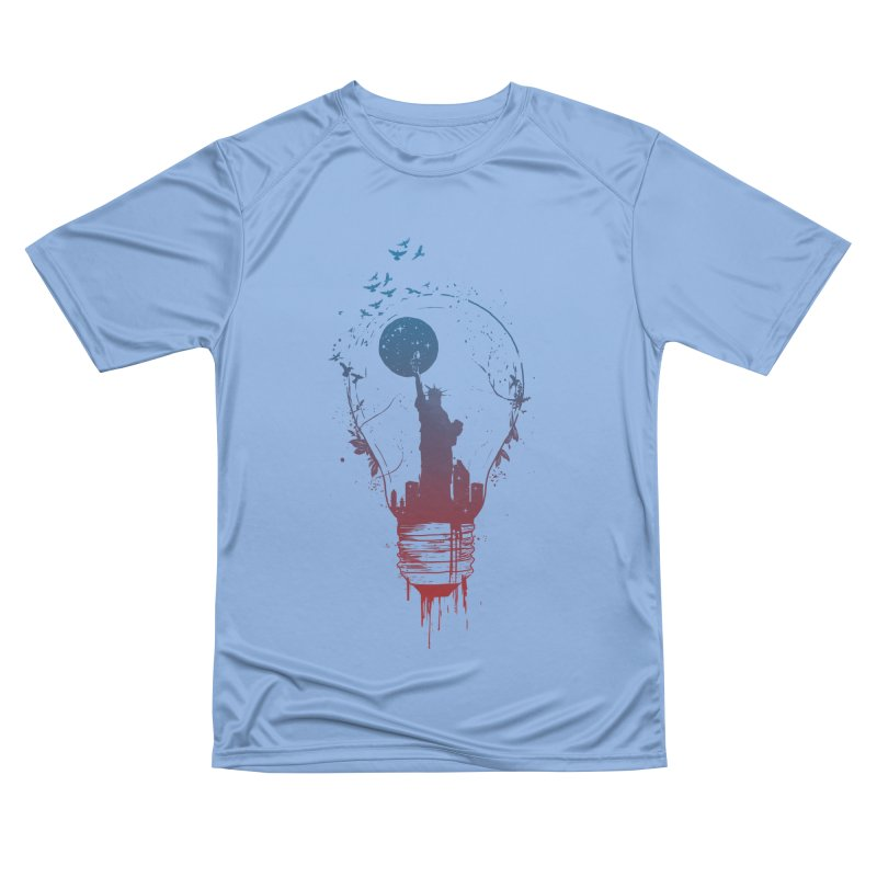 New York City Lights Women's Performance Unisex T-Shirt by Balazs Solti