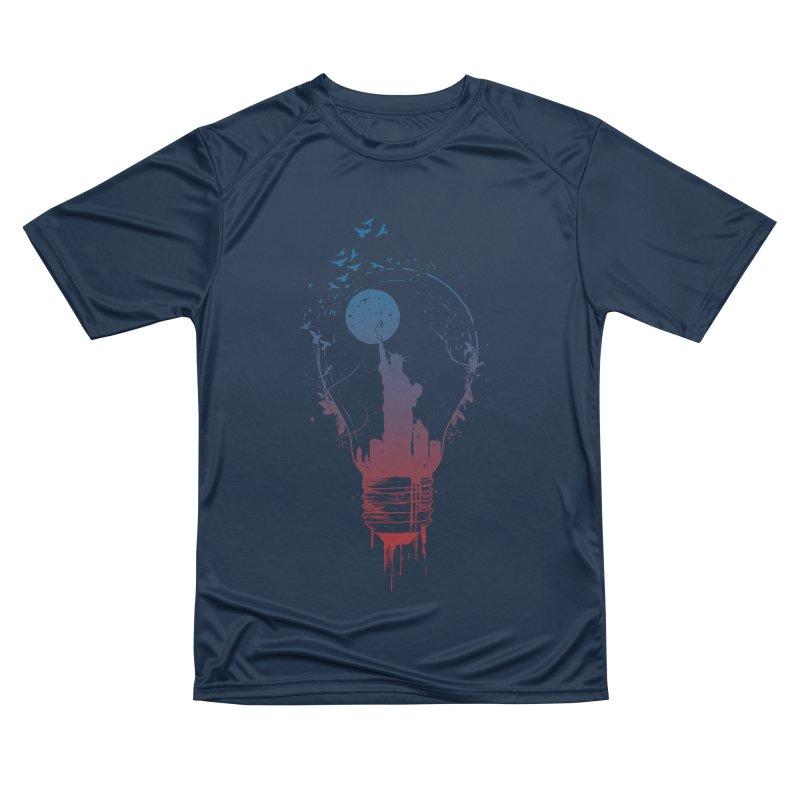 New York City Lights Men's Performance T-Shirt by Balazs Solti