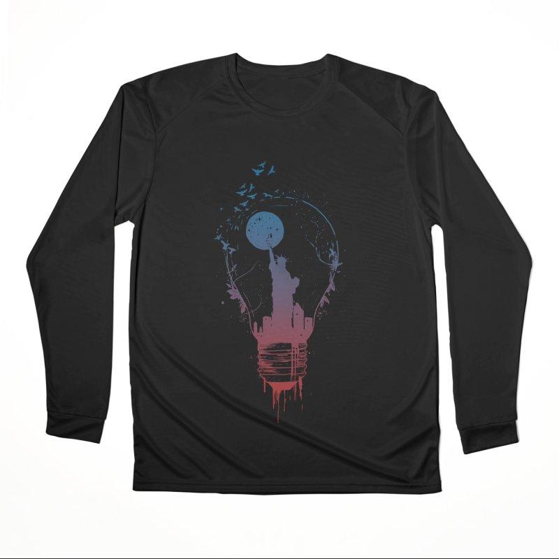 New York City Lights Men's Performance Longsleeve T-Shirt by Balazs Solti