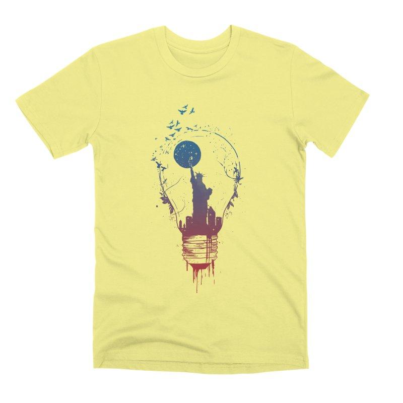 New York City Lights Men's Premium T-Shirt by Balazs Solti