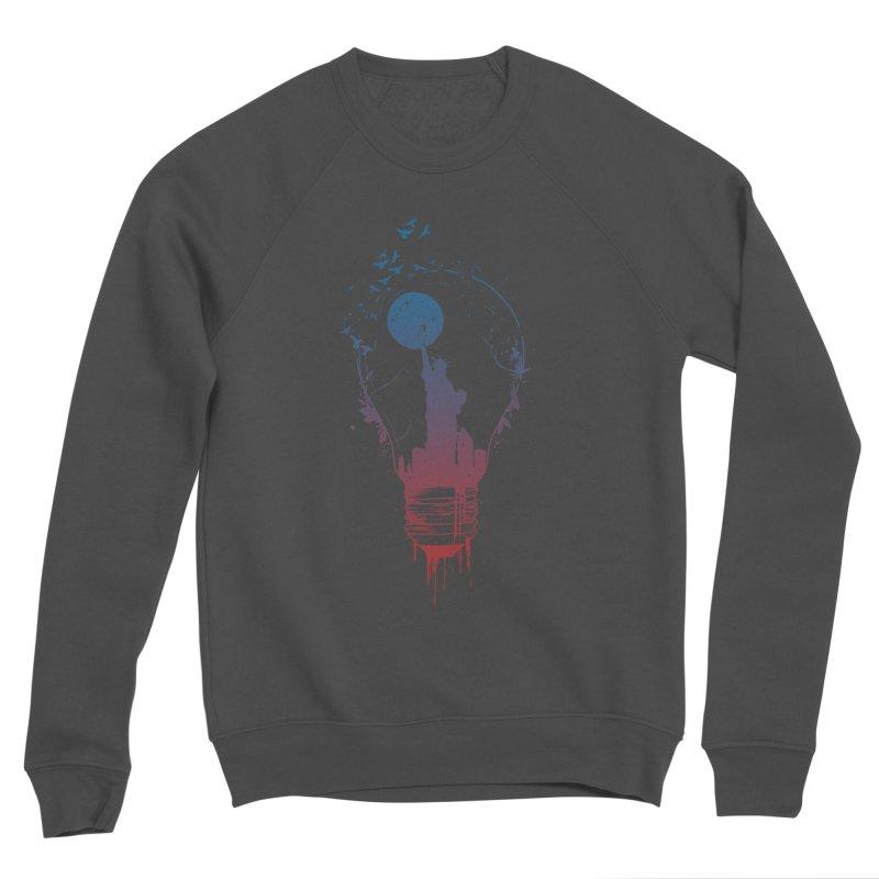 New York City Lights Men's Sponge Fleece Sweatshirt by Balazs Solti