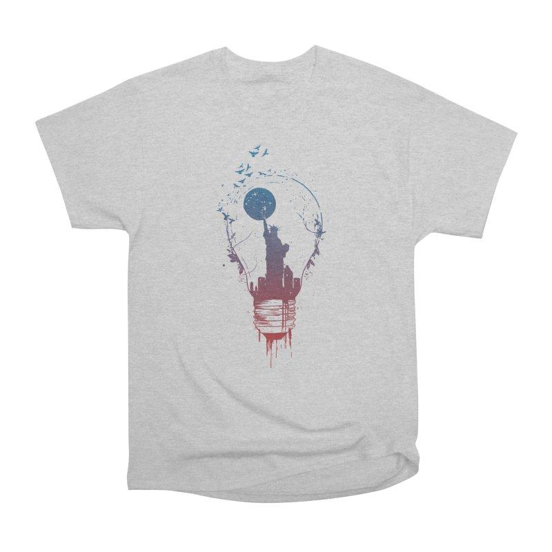 New York City Lights Men's Heavyweight T-Shirt by Balazs Solti