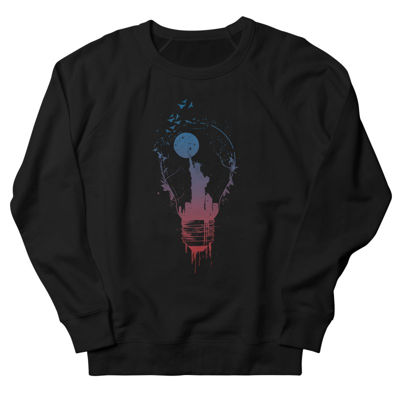 New York City Lights Women's French Terry Sweatshirt by Balazs Solti