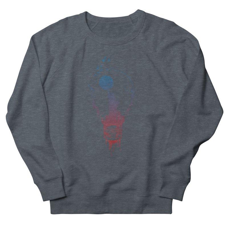 New York City Lights Men's French Terry Sweatshirt by Balazs Solti