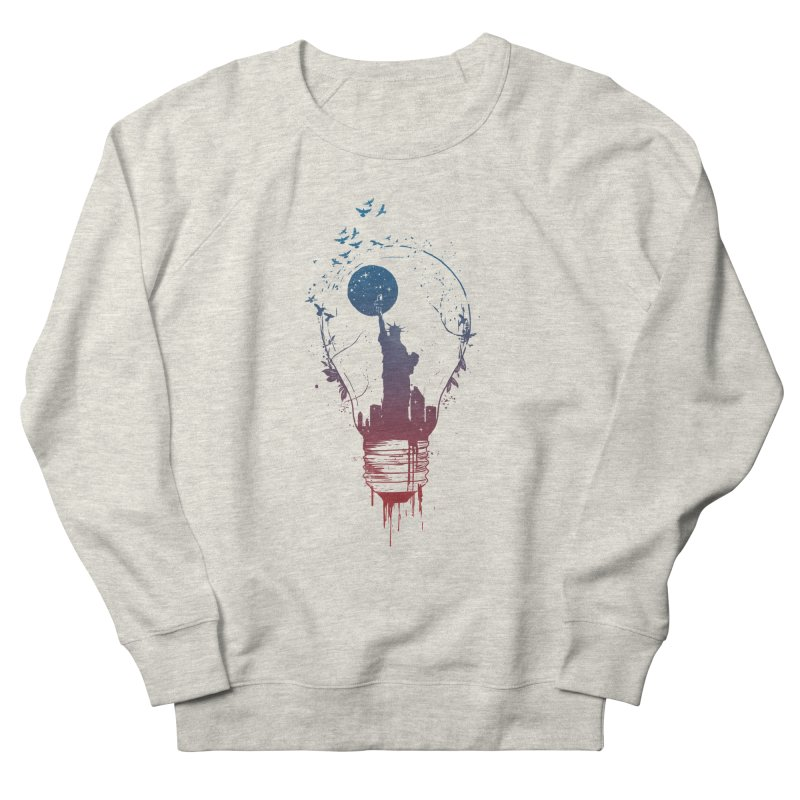 New York City Lights Men's French Terry Sweatshirt by Balazs Solti
