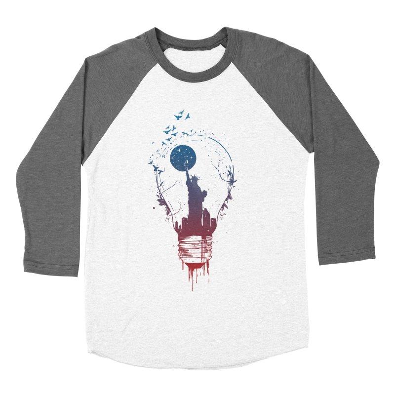 New York City Lights Women's Longsleeve T-Shirt by Balazs Solti
