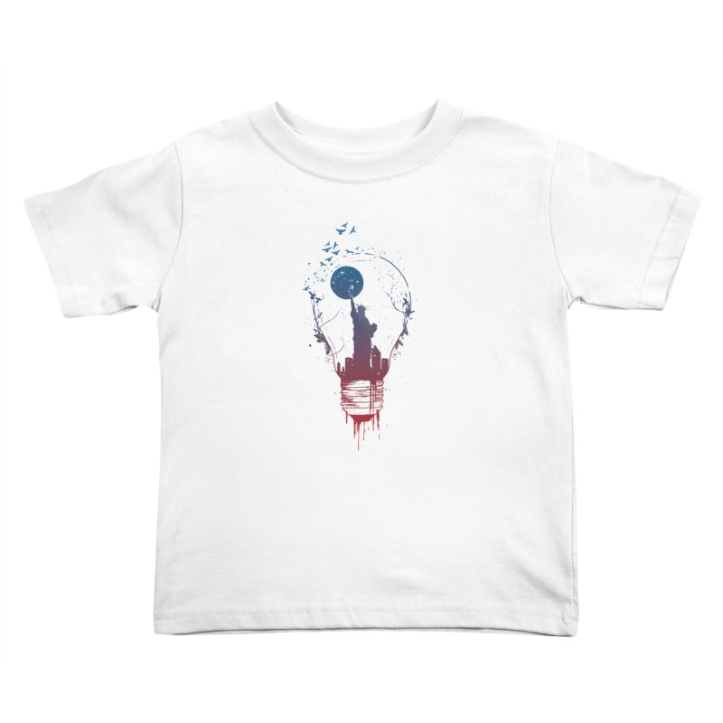 New York City Lights Kids Toddler T-Shirt by Balazs Solti