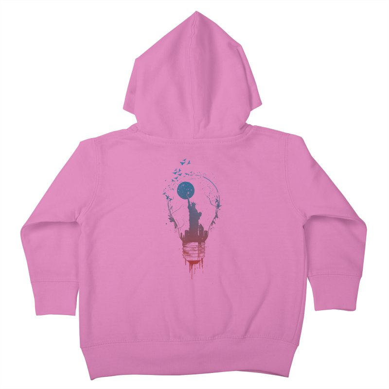 New York City Lights Kids Toddler Zip-Up Hoody by Balazs Solti