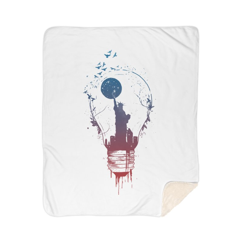 New York City Lights Home Blanket by Balazs Solti