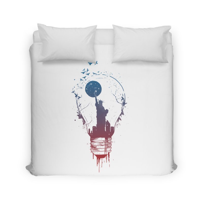 New York City Lights Home Duvet by Balazs Solti