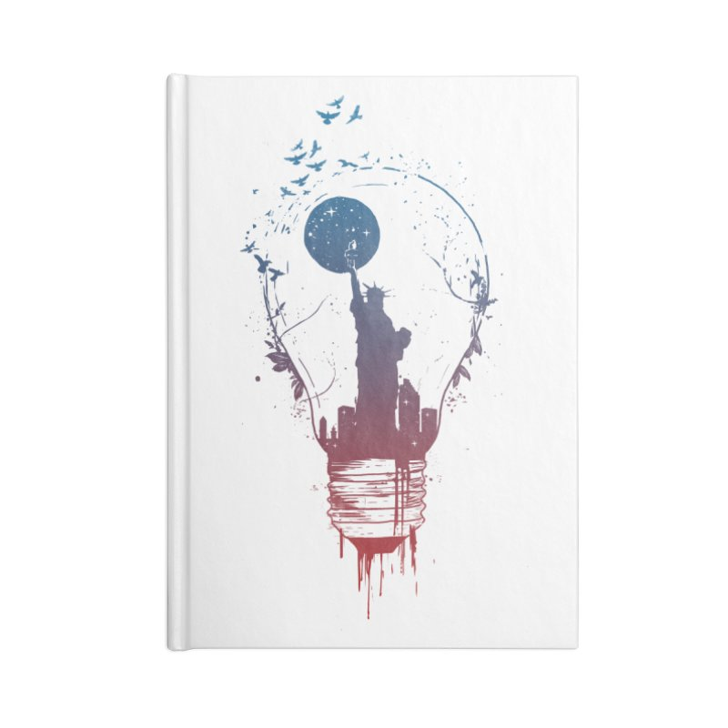 New York City Lights Accessories Lined Journal Notebook by Balazs Solti
