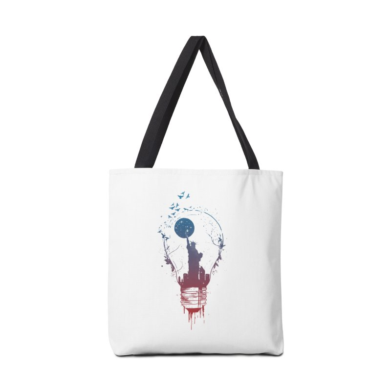 New York City Lights Accessories Tote Bag Bag by Balazs Solti