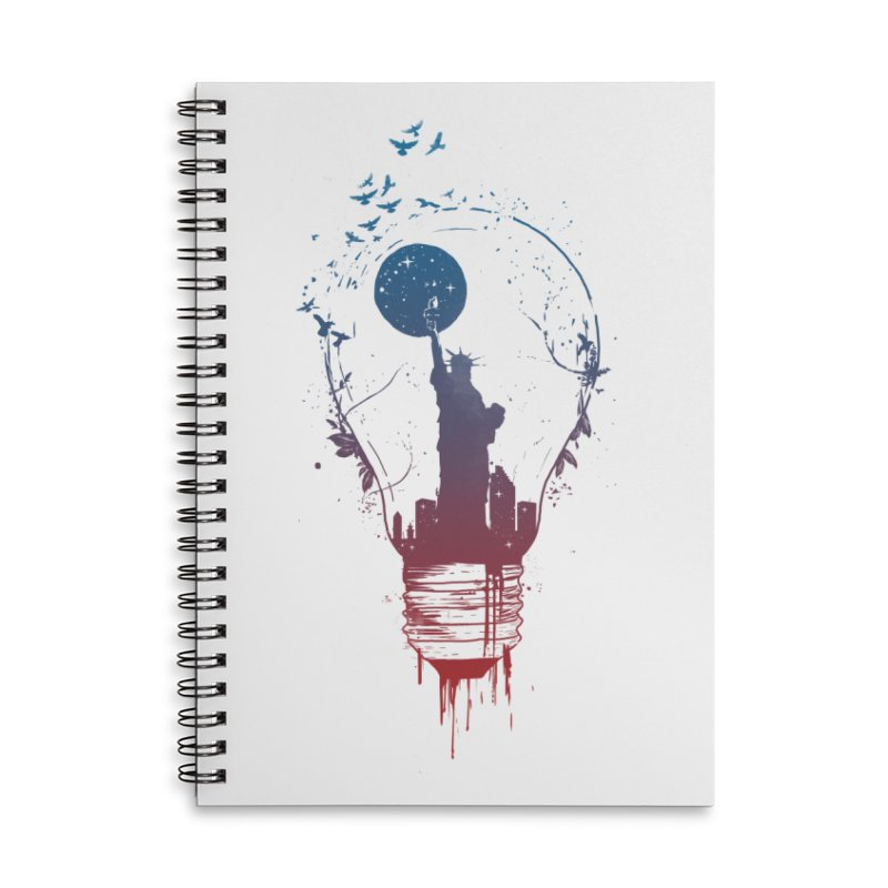 New York City Lights Accessories Lined Spiral Notebook by Balazs Solti
