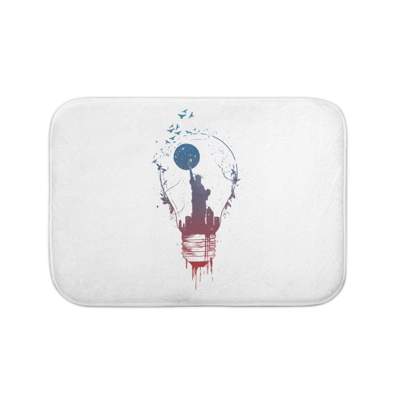 New York City Lights Home Bath Mat by Balazs Solti
