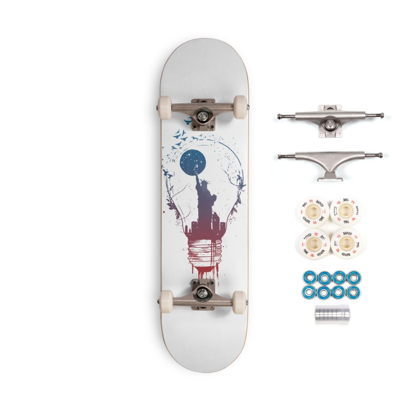 New York City Lights Accessories Complete - Premium Skateboard by Balazs Solti