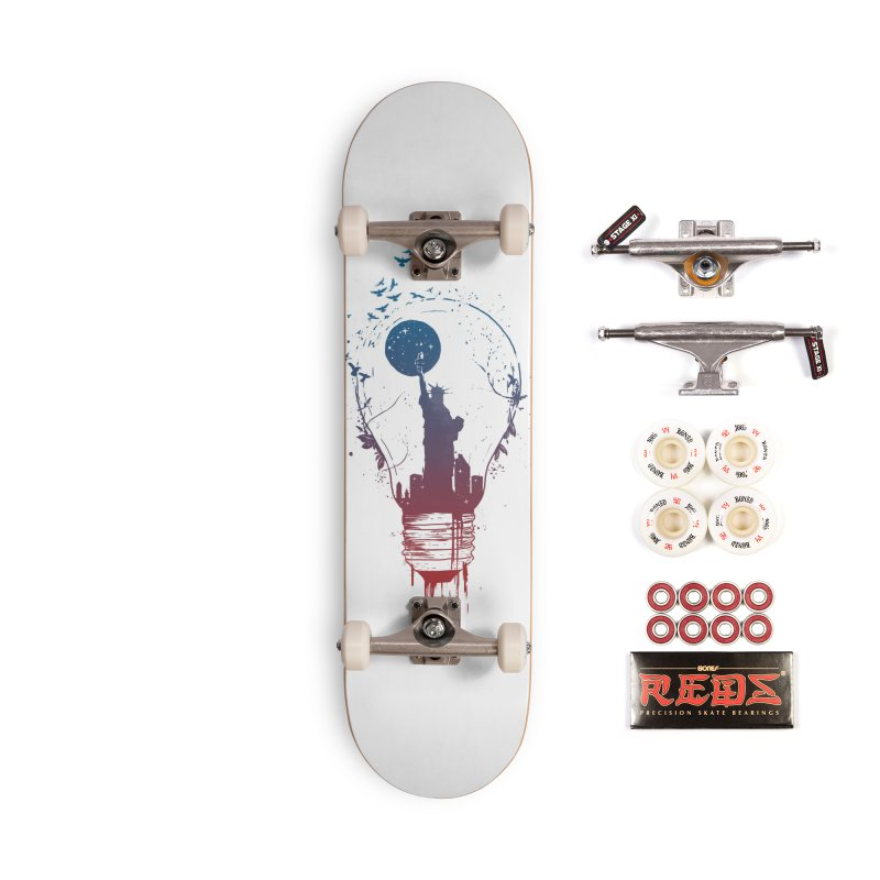 New York City Lights Accessories Complete - Pro Skateboard by Balazs Solti