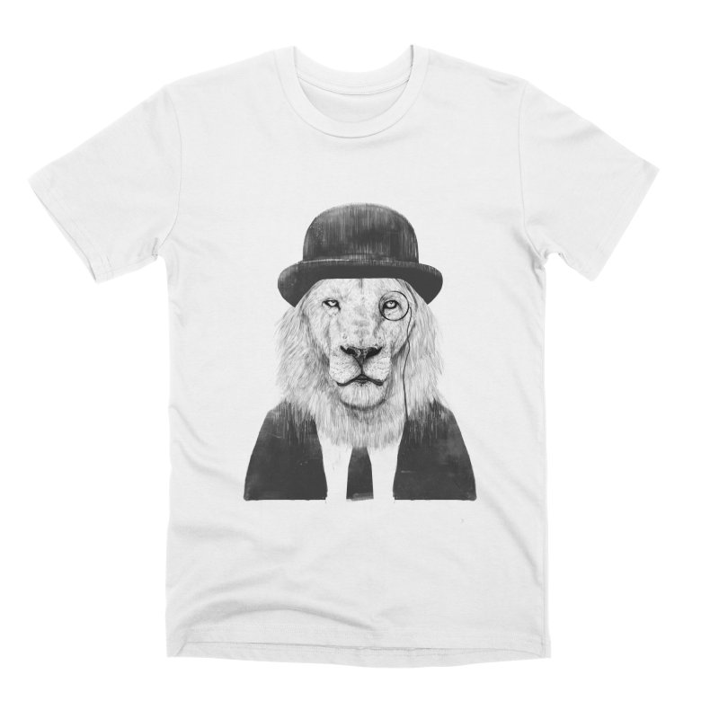 Sir lion Men's Premium T-Shirt by Balazs Solti