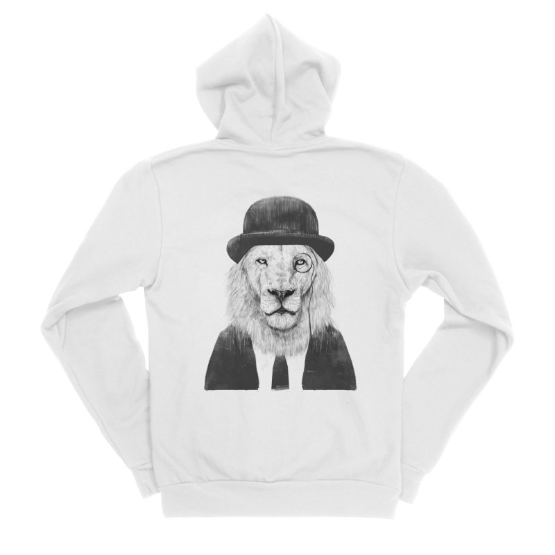 Sir lion Men's Zip-Up Hoody by Balazs Solti