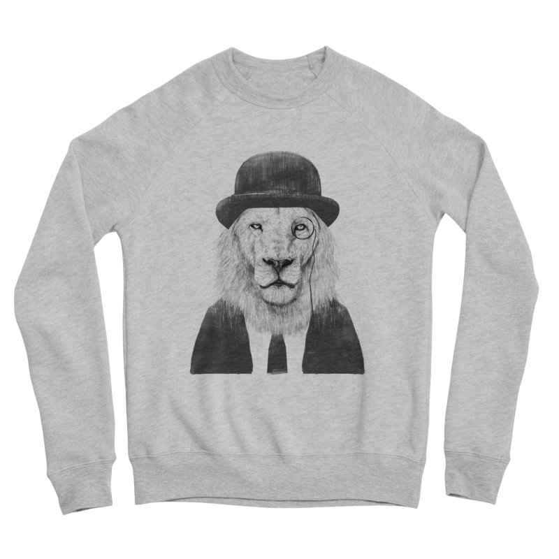 Sir lion Men's Sponge Fleece Sweatshirt by Balazs Solti