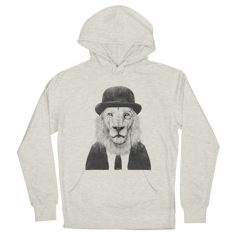 Sir lion Men's French Terry Pullover Hoody by Balazs Solti