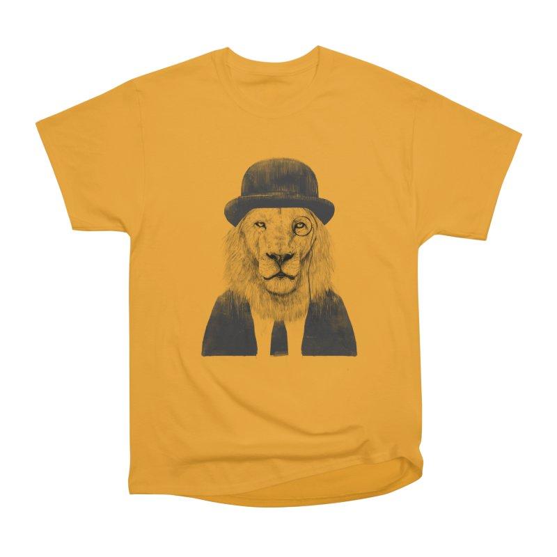 Sir lion Men's Heavyweight T-Shirt by Balazs Solti