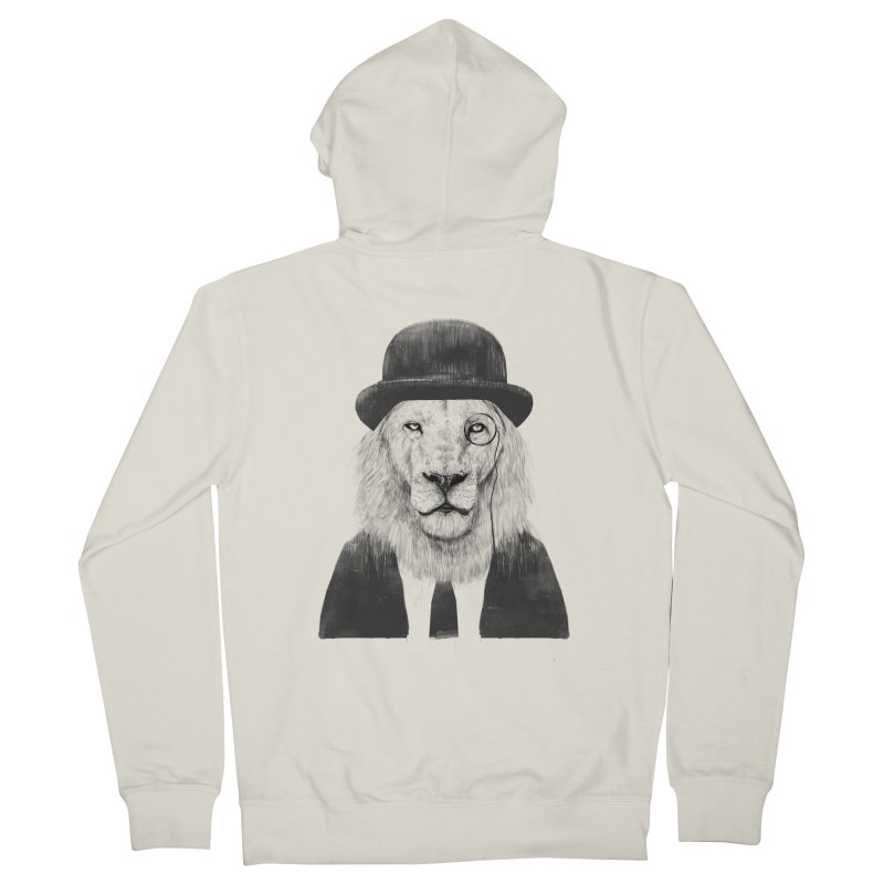 Sir lion Men's French Terry Zip-Up Hoody by Balazs Solti