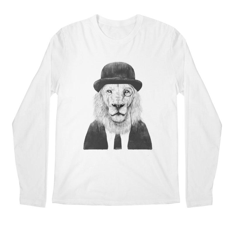 Sir lion Men's Regular Longsleeve T-Shirt by Balazs Solti