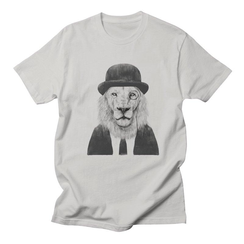 Sir lion Men's Regular T-Shirt by Balazs Solti