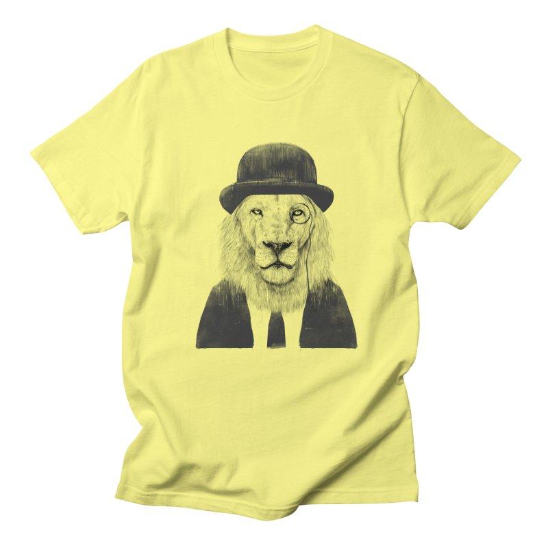 Sir lion Women's Regular Unisex T-Shirt by Balazs Solti