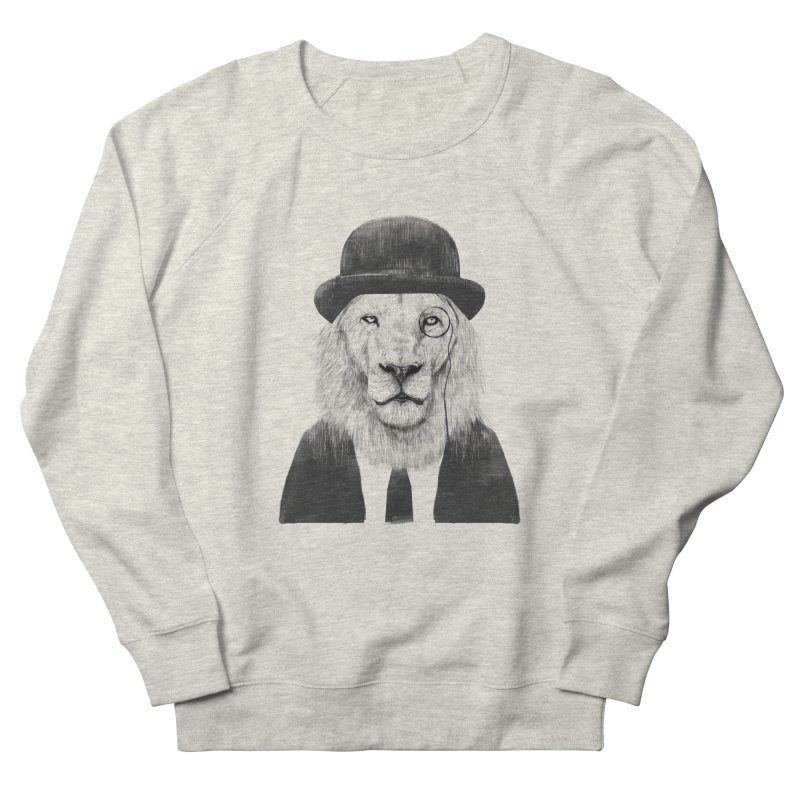 Sir lion Women's French Terry Sweatshirt by Balazs Solti
