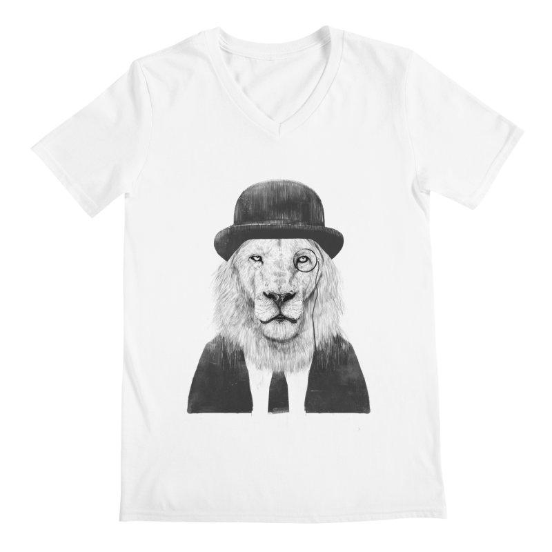 Sir lion Men's V-Neck by Balazs Solti